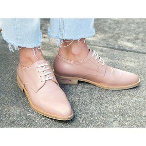 FREDA SALVADOR Strut Leather Plain Toe Oxfords
